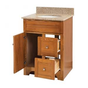 24 Inch Bathroom Vanity Cabinet Worthington 24 Inch Oak Bathroom Vanity Burroughs Hardwoods Store