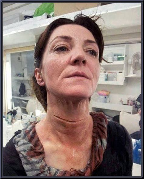 michelle fairley game of thrones death michelle fairley quot lady catelyn stark quot being prepped with