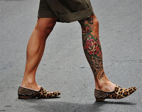 tattoo messi gomito the x stylez men s leopard loafers get them before they