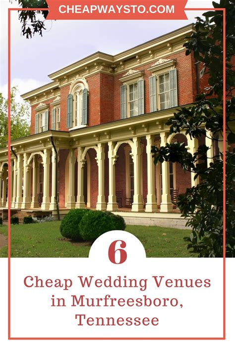 Wedding Venues Tennessee 6 cheap wedding venues in murfreesboro tn cheapwaysto