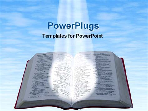 falling spotlight on a bible powerpoint template