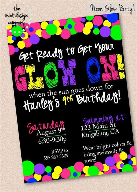 best 25 neon party invitations ideas on pinterest