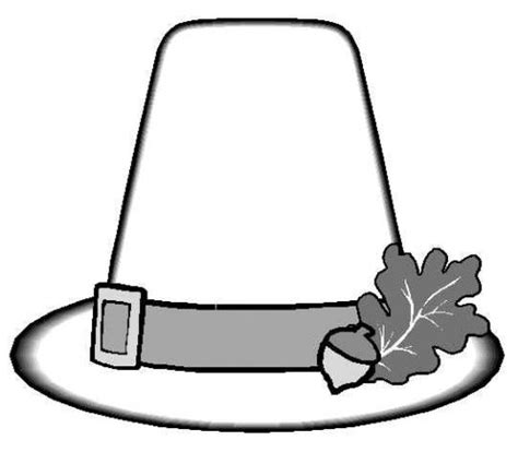 coloring page of pilgrim hat thanksgiving coloring pages pilgrim hat for kids