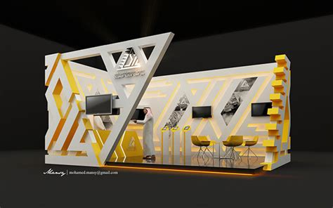 design booth com arab sea information systems booth design on behance