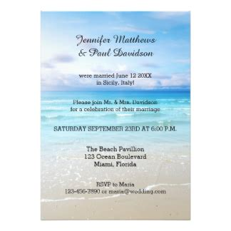 post wedding reception invitation exles post wedding reception invitations announcements zazzle