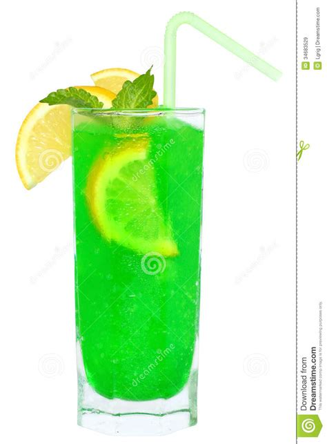 martini green green cocktail with crushed ice royalty free stock images