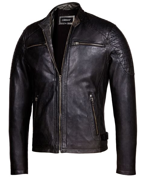 leather racing jacket vintage black cafe racer leather jacket mens genuine