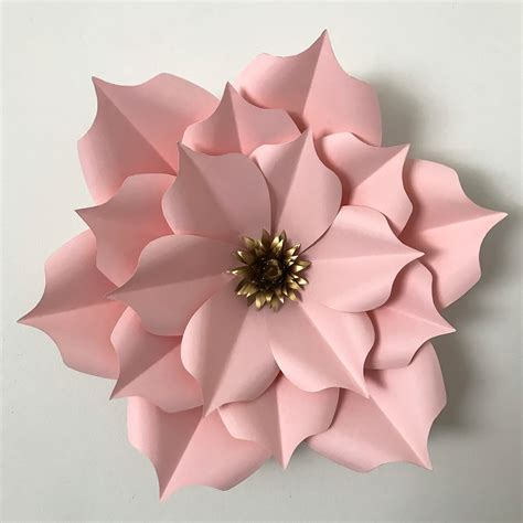 Paper Flower Templates paper flower template pdf templates data