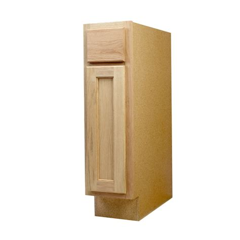 9 Kitchen Base Cabinet Shop Continental Cabinets Inc 9 In W X 34 5 In H X 24 In D Unfinished Oak Door And Drawer Base