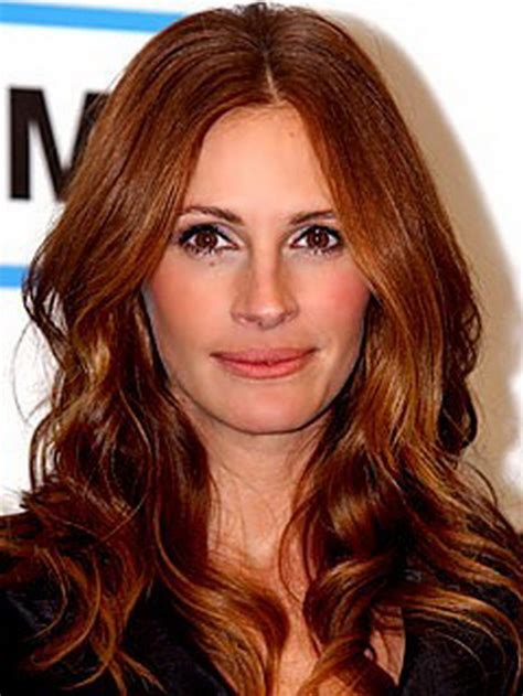 julia roberts red hair with highlights immagini capelli rossi