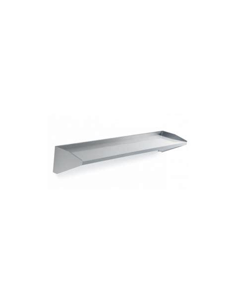 mensola inox mensole 2 livelli inox con supporti in acciaio da cm 118