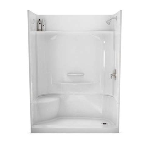 maax adesso white 30 in x 60 in 4 alcove shower kit