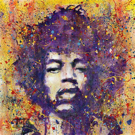 Jaroslaw Glod Artwork: Jimi Hendrix   Original Painting ... Famous Acrylic Painting
