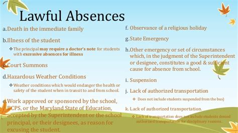Sle Absence Letter Due To A Religious back to school presentation for grade 3