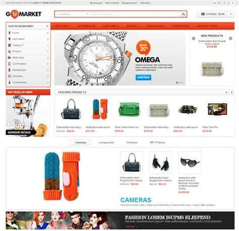 free opencart templates 80 best responsive opencart themes free premium