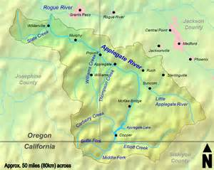 applegate valley oregon map file applegate river watershed png