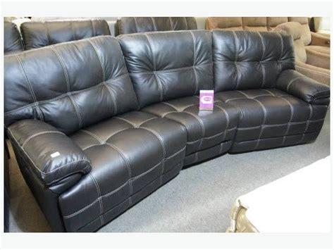 fully reclining sofa scs max leather 4 seater curved sofa fully reclining