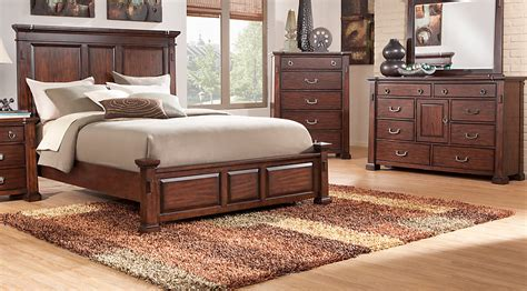 rooms to go bedrooms clairfield tobacco 5 pc panel bedroom bedroom sets wood