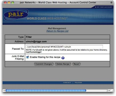 pair networks one way to automatically delete spam on pair networks servers
