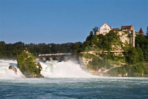 boat ride rhine falls switzerland black forest titisee and rhine falls