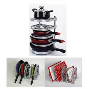 Pan Stand Racks New Pan And Pot Organizer Rack Multi Uses Kitchen Rack