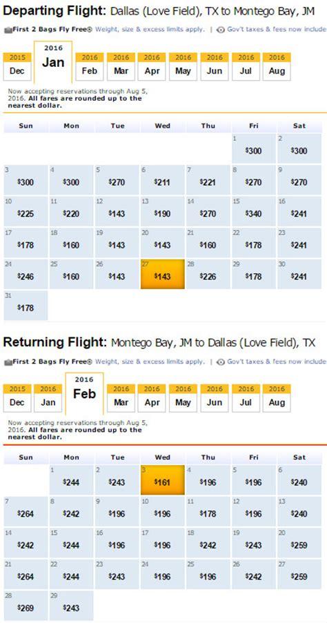 Fare Calendar Southwest Calendar Low Fare Calendar Template 2016