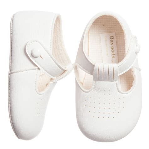 early days baypods white t bar pre walker shoes