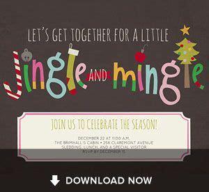 jingle mingle christmas invitation   customize  print   cookie exchange party