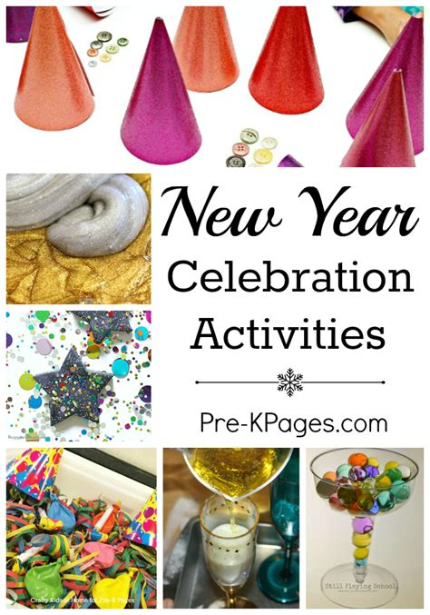 activities for new years new year celebration activities pre k pages