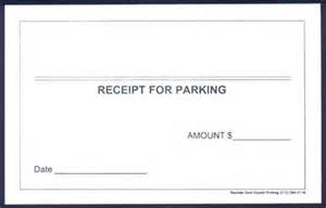 Parking Receipt Template Free by Hover