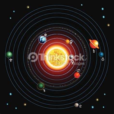 sistema arte sistema solare arte vettoriale thinkstock