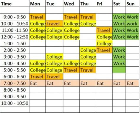 how to create a study timetable that will make