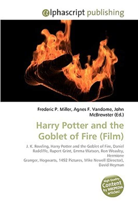 harry potter and the goblet of book report harry potter and the goblet of by frederic p miller