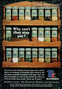 mccormick schilling spice racks 1964 click americana