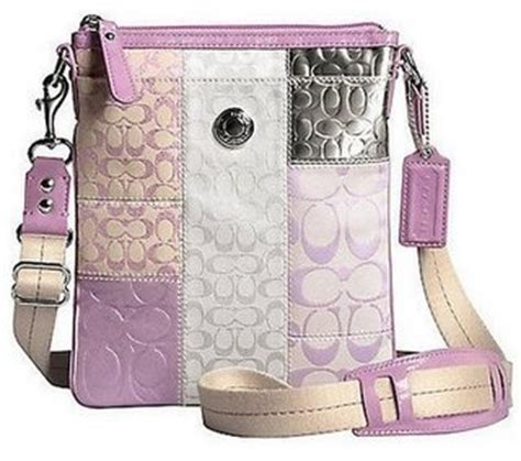 Pink Patchwork Coach Purse - coach signature patchwork bag purse pink 42481 new with tag