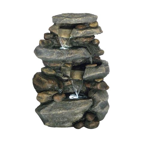 pure garden   stone waterfall fountain  led