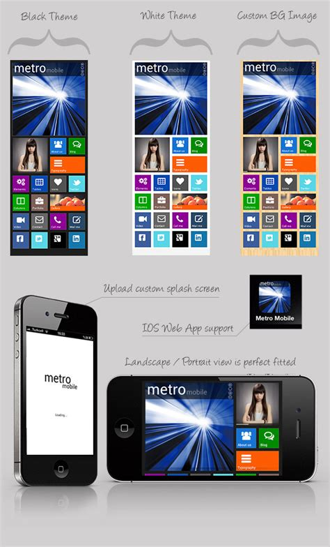 mobile themes vxp file metro mobile premium html mobile template by webbu