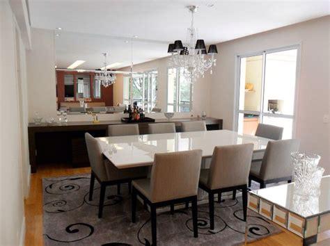 white dining room setzt formelle sala de jantar mesa branca e buffet escuro sala de