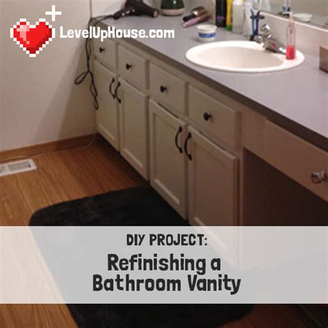 refinishing  wood bathroom vanity part  preparation