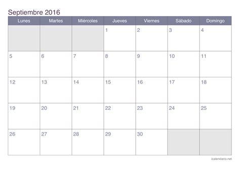 calendario de pago ahu setiembre 2016 calendario septiembre 2016 para imprimir icalendario net