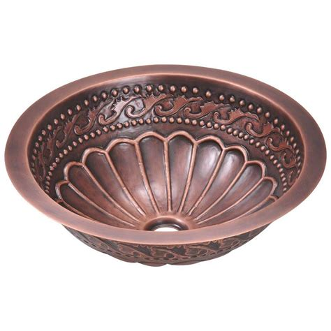 bathroom sink copper polaris sinks tri mount bathroom sink in copper p429 the