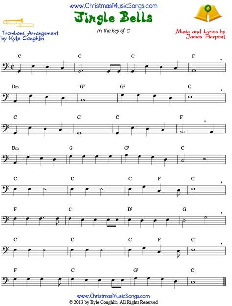 song trombones jingle bells for trombone free sheet music