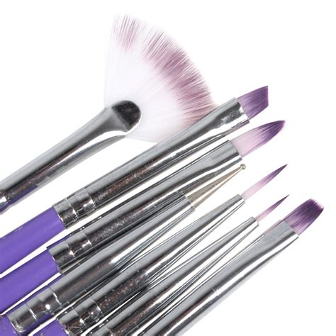 Manicure Painting Brush Set 7pcs purple nail design brush manicure for painting dotting
