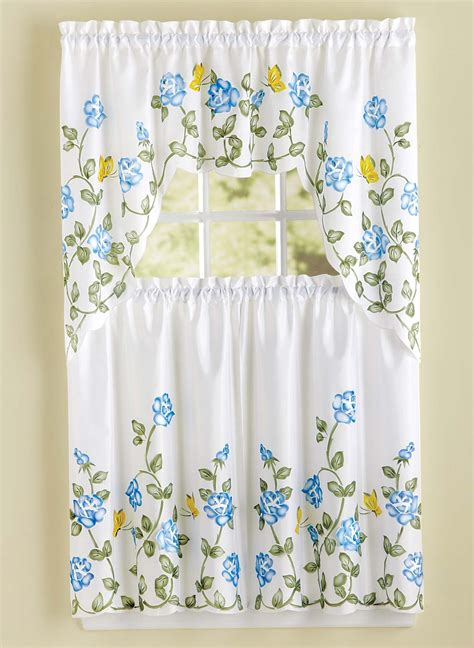 carol wright curtains rose applique kitchen curtains carolwrightgifts com