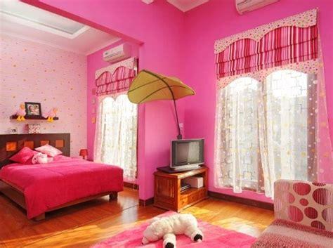 dekorasi kamar warna pink cantik  lucu  raja