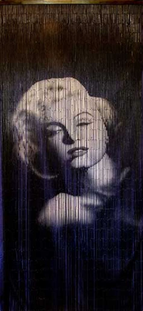marilyn monroe curtains bamboo door curtain with marilyn monroe
