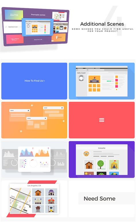 flat design after effect project company explainer l flat collection commercials after