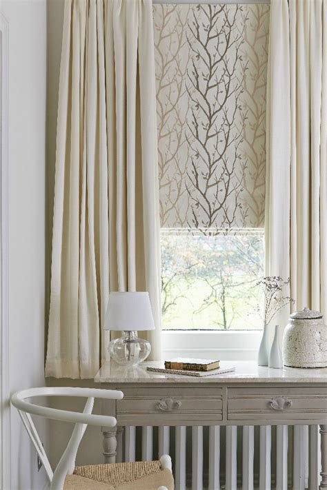 drapes and sheers together the 107 best images about roman blinds and curtains on