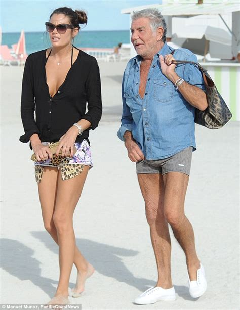 Who Wore Roberto Cavalli For Hm Better Longoria Or Milian by Roberto Cavalli 73 With His 20 Something Gf In Miami