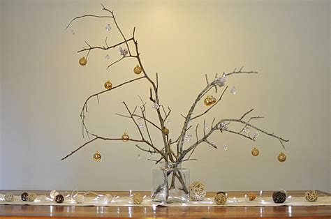 stick christmas trees with lights easy table centrepiece ideas be a